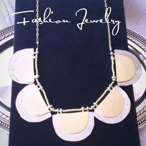 LOFT Silver & Gold Tone Statement Necklace